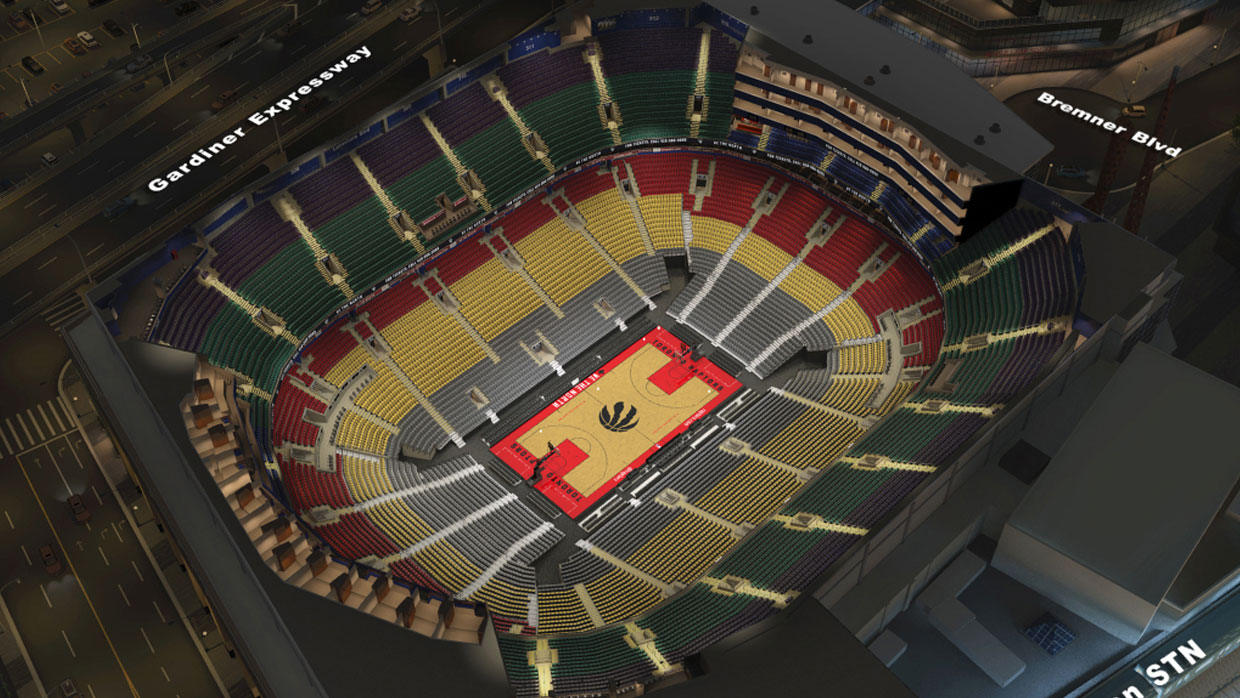 Toronto raptors virtual venue by iomedia